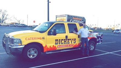 Owner/Operator John Lockett opens Dickey's Barbecue Pit on Keesler Air Force Base on Thursday