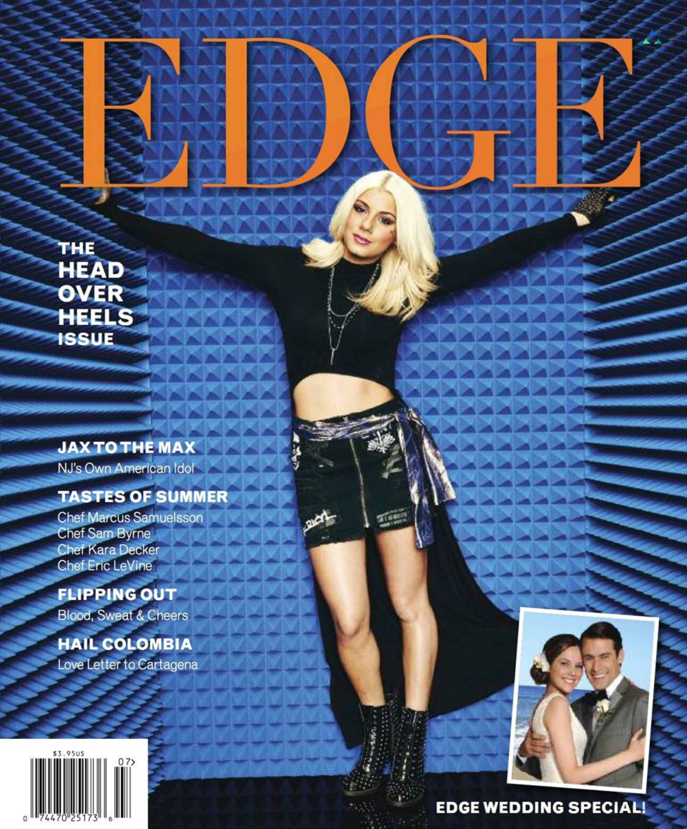 "American Idol Star Jax Earns Her First Cover on EDGE Magazine Leading New Jersey lifestyle publication should be first of many for New Brunswick native. Elizabeth, NJ - July 14, 2015) Millions of television viewers will remember Spring 2015 as the time they fell head over heels for a Jersey Girl named Jax. Her performances on American Idol propelled her to the program's ""final three""- the highest a New Jersey performer had ever finished in Idol's history. Summer 2015 marks Jax's first magazine cover, the Head Over Heels issue of EDGE. For more on EDGE Magazine: www.EdgeMagOnline.com - Twitter @EDGEMagNJ - Facebook EDGE Magazine"