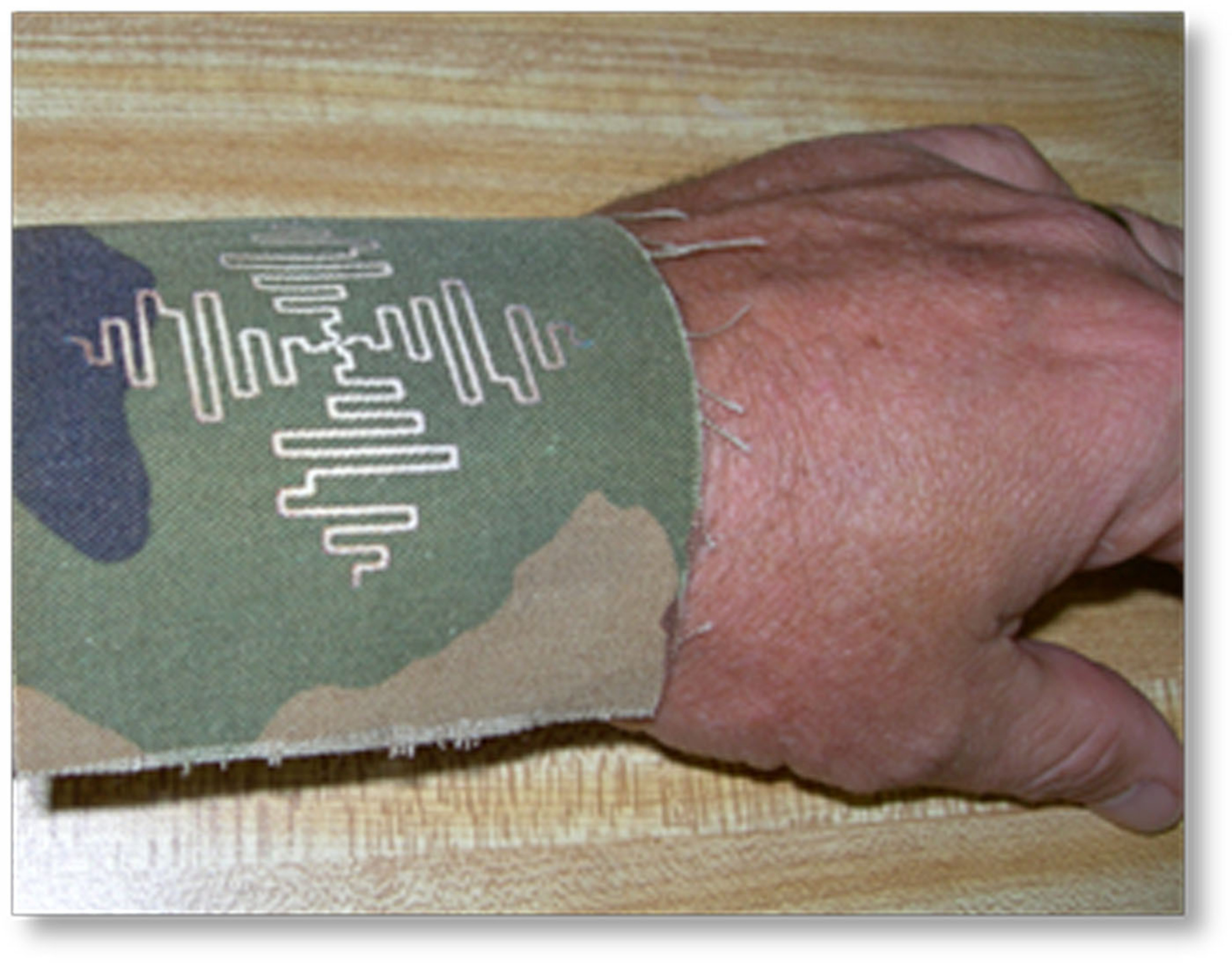 Wrist Antenna: Printing Electronics on Clothing Allows for Lighter, more Ubiquitous Communications Capabilities. Courtesy, US Army (PRNewsFoto/FlexTech Alliance) (PRNewsFoto/FLEXTECH ALLIANCE)