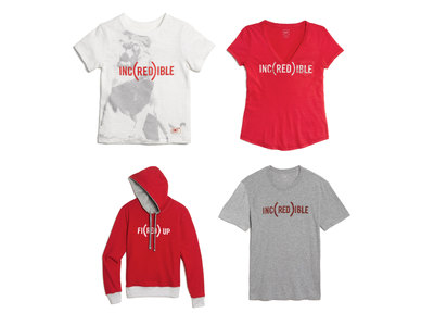 Selected styles from Gap's new (RED) collection available for the entire family.