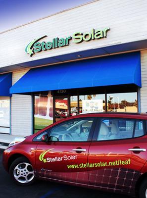 Stellar Solar store sign.  (PRNewsFoto/Stellar Solar)