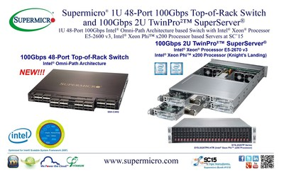 Supermicro® destaca la conexión HPC optimizada 1U 100Gbps 48-Port Intel® basada en Omni-Path