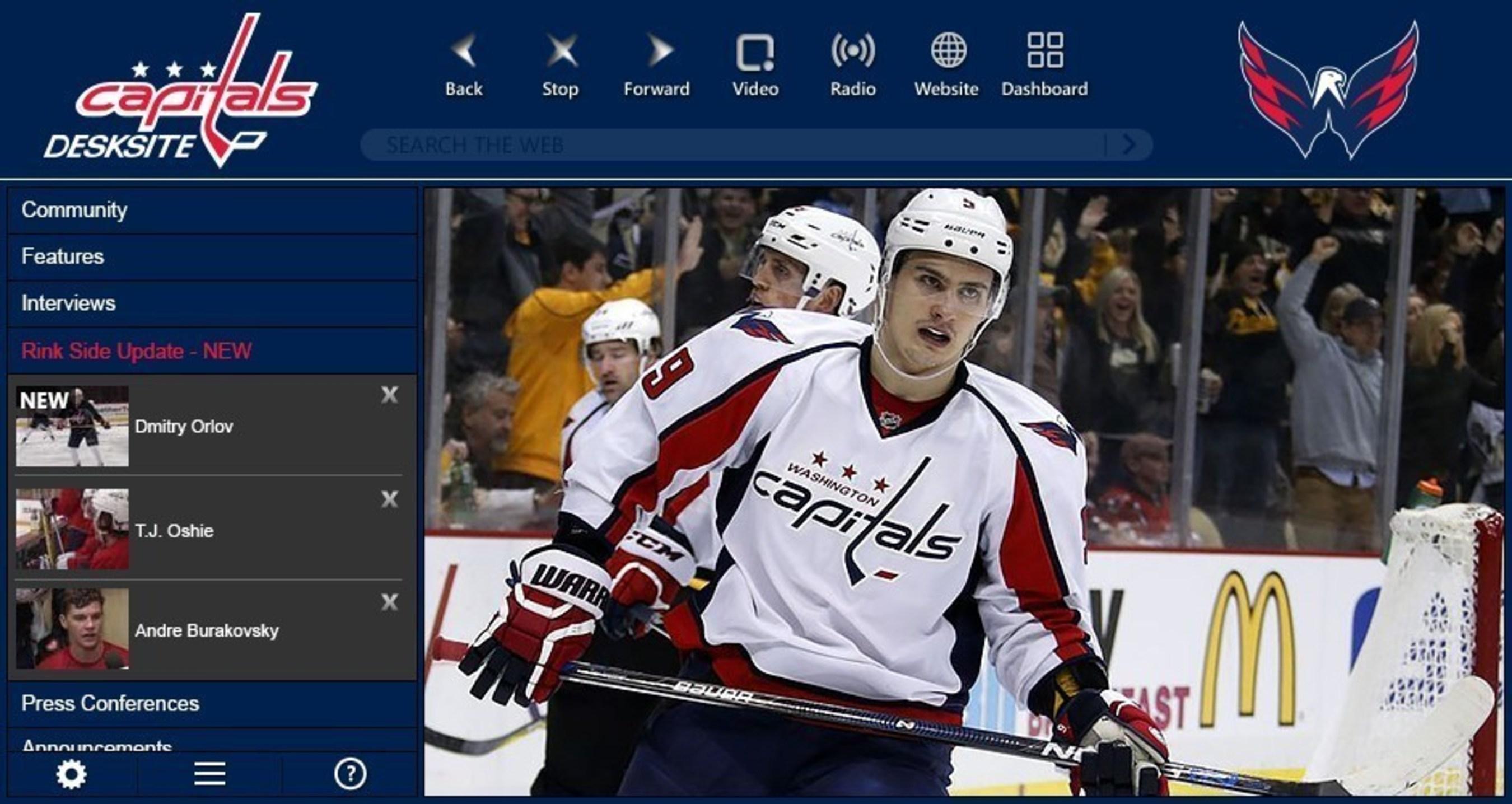 Washington Capitals launch new video app with Capitals DeskSite