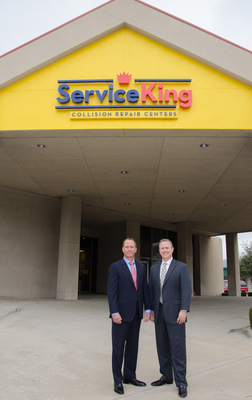 Service King's acquisition of Sterling Collision centers will bring the total number of Service King locations to more than 170 across 20 states, reinforcing its position as one of the country's largest multi-shop operators. Pictured: Service King President Jeff McFadden and CEO Chris Abraham