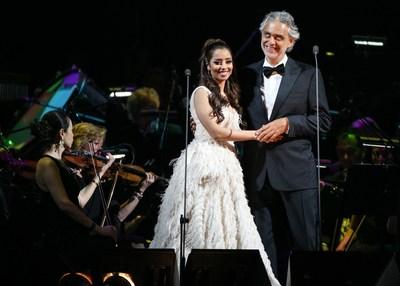 Balqees se establece en la escena mundial como primer artista árabe en actuar con el legendario Andrea Bocelli