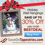 Holiday Tapestries.  (PRNewsFoto/MyReviewsNow.LLC)