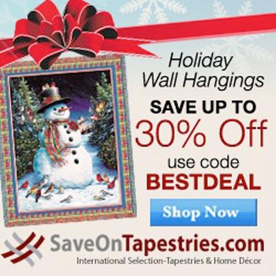 Holiday Tapestries.  (PRNewsFoto/MyReviewsNow.LLC)