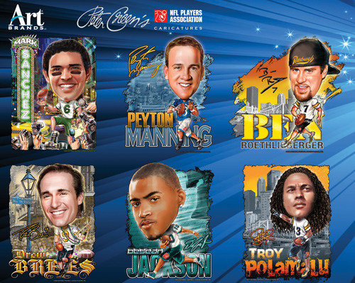 NFL Caricatures Available on Apparel. (PRNewsFoto/Art Brands)