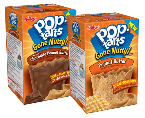 Mornings Have 'Gone Nutty!' With New Pop-Tarts® Peanut Butter Flavors