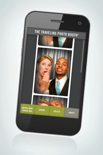 TeleBooth(TM) Mobile App Screenshot.(PRNewsFoto/The Traveling Photo Booth) (PRNewsFoto/THE TRAVELING PHOTO BOOTH)