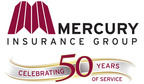 Mercury Insurance Group Celebrating 50 Years of Service.  (PRNewsFoto/Mercury Insurance)
