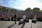 Champs de Mars was full to the brim Saturday as Andrew shared the ultimate message of hope.  (PRNewsFoto/Luis Palau Association)