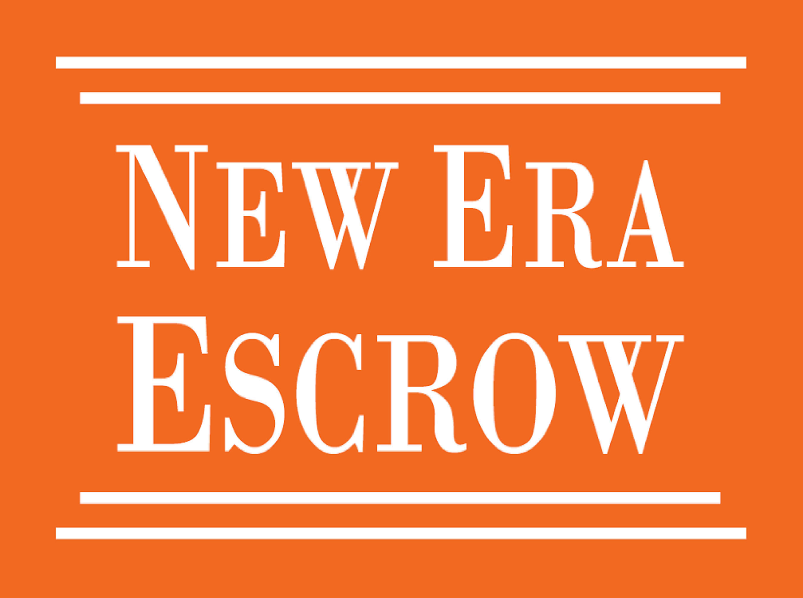 New Era Escrow logo.