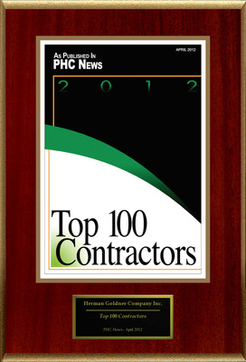 "Herman Goldner Company Selected For ""Top 100 Contractors"".  (PRNewsFoto/Herman Goldner Company)"
