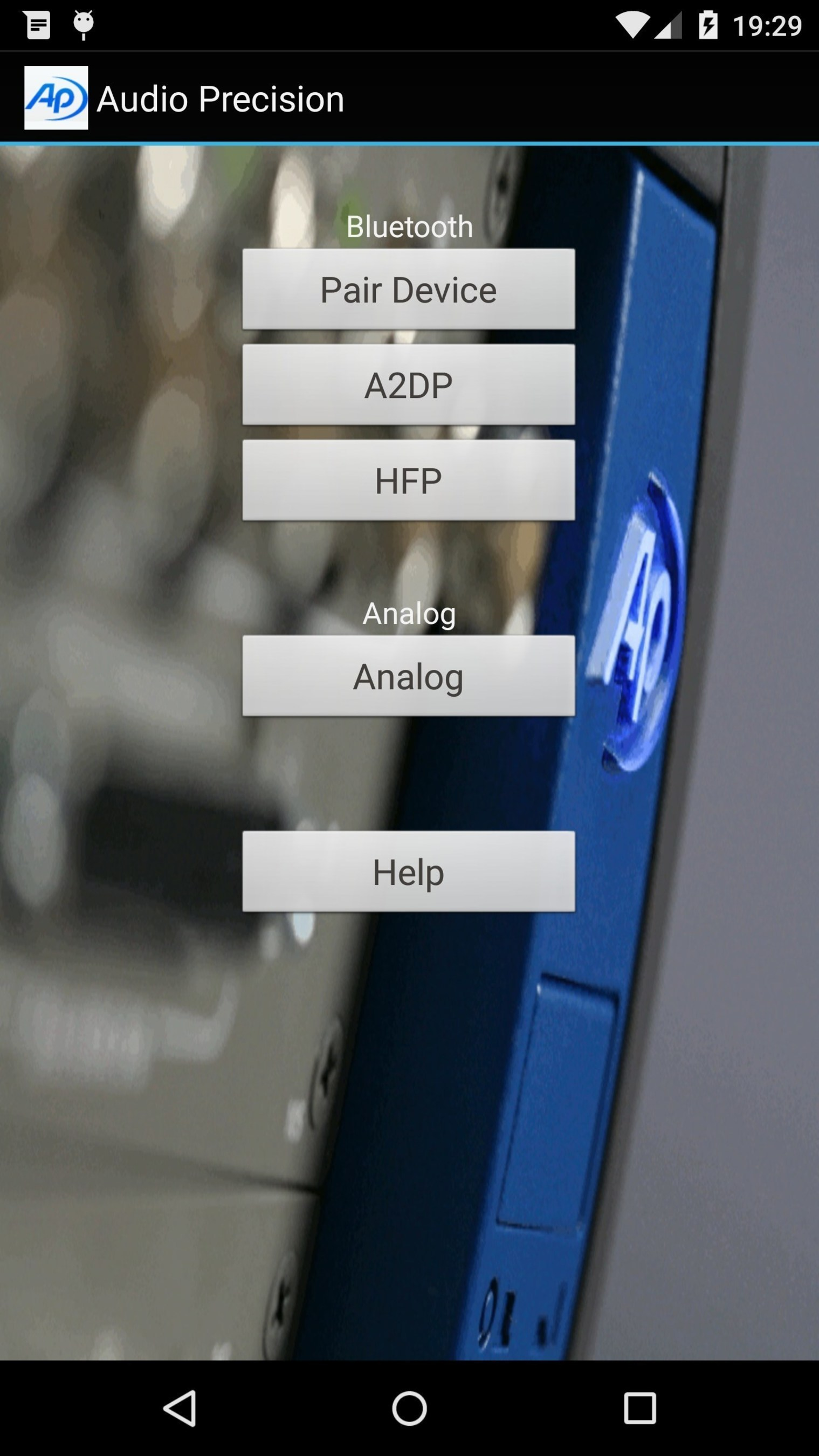 Audio Precision's updated Smartphone Audio Test App for Android.