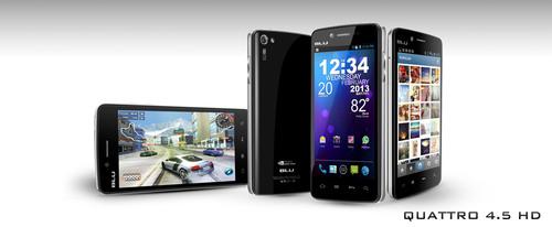 Quattro 4.5 HD. (PRNewsFoto/BLU Products) (PRNewsFoto/BLU PRODUCTS)