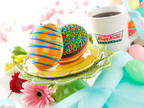 Krispy Kreme(R) is bringing you two delicious, new egg-shaped treats to celebrate the Blu-ray(TM) and DVD release of Universal Pictures' Easter-themed family comedy HOP, from the creators of Despicable Me.  (PRNewsFoto/Krispy Kreme Doughnut Corporation)