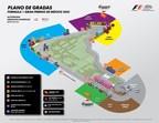 Grandstand Plan for THE FORMULA 1 GRAN PREMIO DE MEXICO 2015. (PRNewsFoto/CIE)