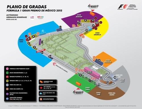 Grandstand Plan for THE FORMULA 1 GRAN PREMIO DE MEXICO 2015. (PRNewsFoto/CIE) (PRNewsFoto/CIE)