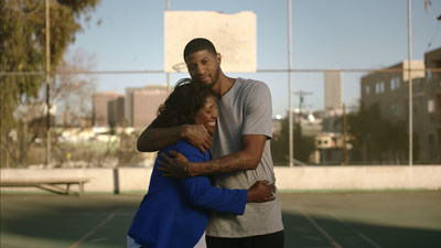 NBA All-Star Paul George and his mom, Paulette.