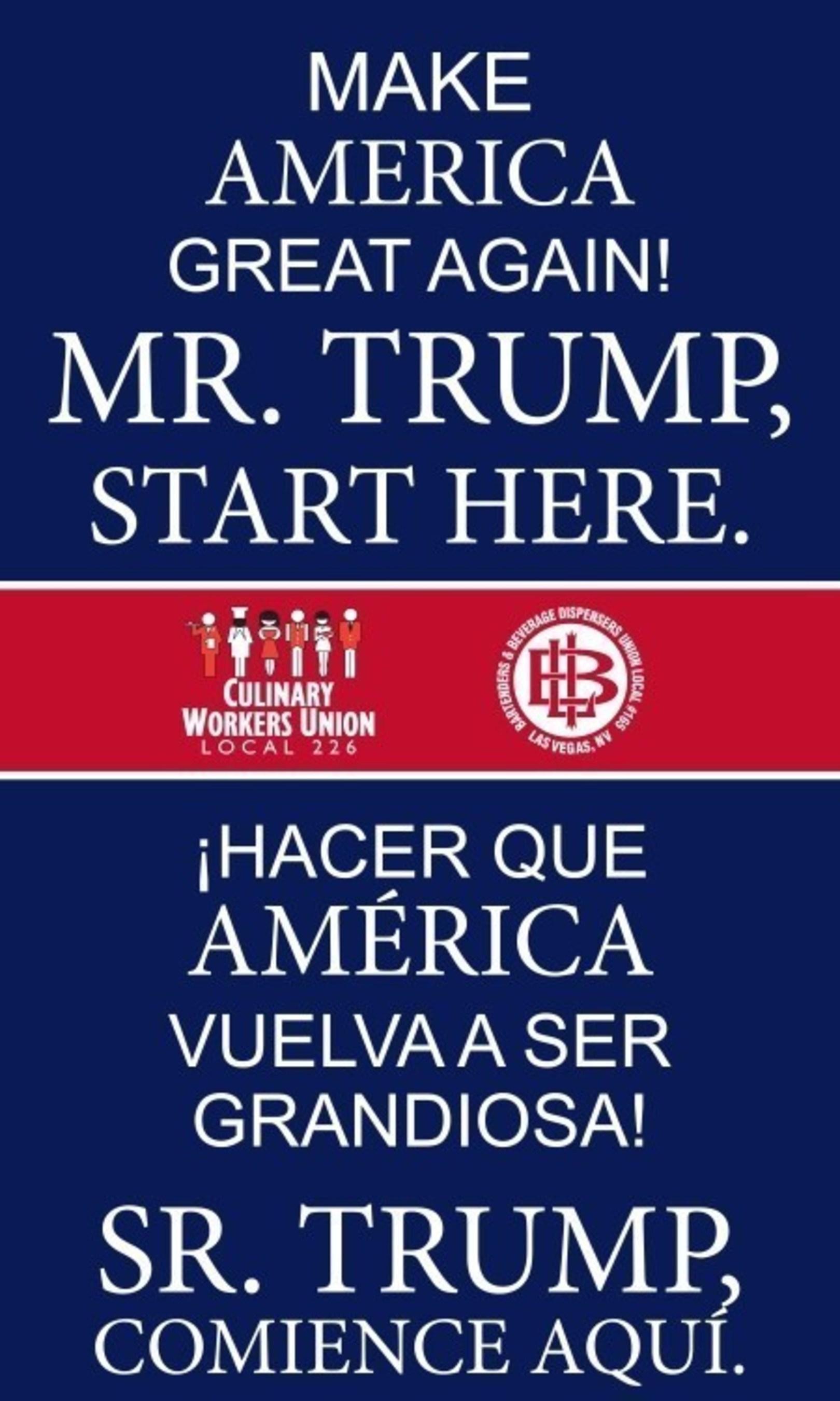Mr. Trump, make America great again!