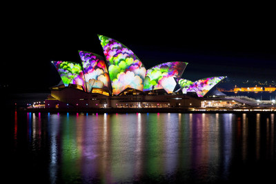 Vivid Sydney 2014 Lighting the Sails Sydney Opera House James Horan Destination NSW