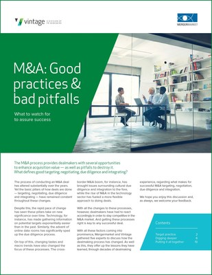 The M&A process provides dealmakers with several opportunities to enhance acquisition value -- as well as pitfalls to destroy it. What defines good targeting, negotiating, due diligence and integrating? The process of conducting an M&A deal has altered substantially over the years. Yet the basic pillars of how deals are done -- targeting, negotiating, due diligence and integrating -- have remained constant throughout these changes.