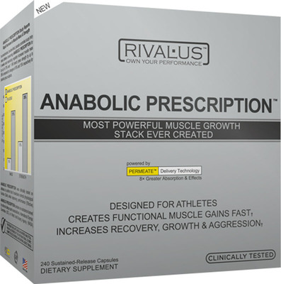 ANABOLIC PRESCRIPTION BY RIVALUS is #1 SPORTS NUTRITION SUPPLEMENT IN PROFESSIONAL SPORTS