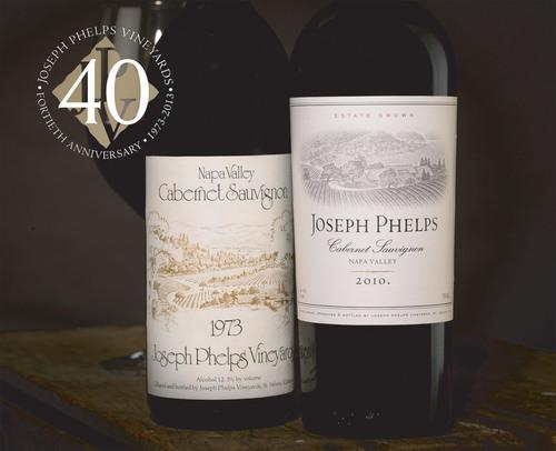 The 1973 and 2010 vintages of Joseph Phelps Cabernet Sauvignon, Napa Valley.  (PRNewsFoto/Joseph Phelps Vineyards)