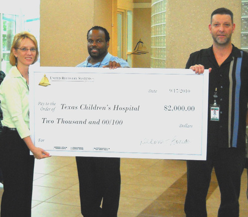 United Recovery Systems Raises Collection for Texas Children's Hospital