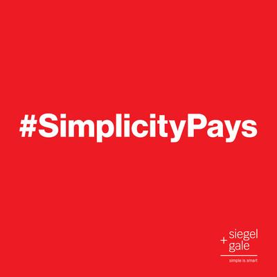 #SimplicityPays - Introducing the Siegel+Gale 2013 Global Brand Simplicity Index.  (PRNewsFoto/Siegel+Gale)