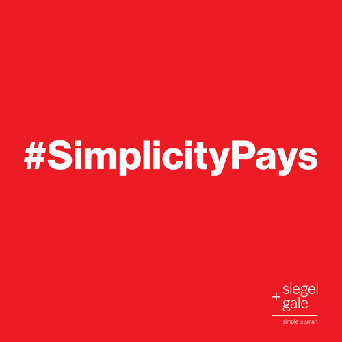 #SimplicityPays - Introducing the Siegel+Gale 2013 Global Brand Simplicity Index.  (PRNewsFoto/Siegel+Gale)