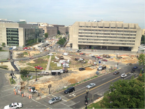 Construction is under way at the site of The American Veterans Disabled for Life Memorial in Washington, D.C. Anticipated dedication date is October 12, 2014.  (PRNewsFoto/Disabled Veterans' Life Memorial Foundation)