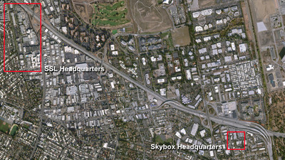 This image was captured by SkySat-1 which shows the SSL and Skybox headquarters. (PRNewsFoto/SSL)