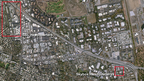 This image was captured by SkySat-1 which shows the SSL and Skybox headquarters. (PRNewsFoto/SSL) ...