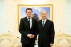 Intertek CEO Mr. Andre Lacroix and AQSIQ Minister Mr. Zhi Shuping