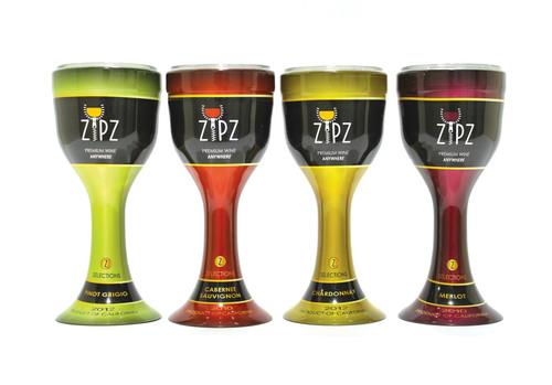 New Zipz Takes Premium Wine Indoors, Outdoors And On-The-Go. (PRNewsFoto/Zipz, Inc.) (PRNewsFoto/ZIPZ, INC.)