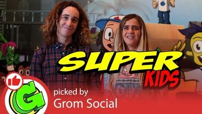 "Zach and Caroline Marks, hosts of Grom Social's ""Super Kids"""