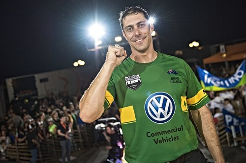"2015 Champions Trophy in Florence, Italy - ""and the winner is..."": Brad Delosa of Australia. (PRNewsFoto/STIHL TIMBERSPORTS Series) (PRNewsFoto/STIHL TIMBERSPORTS Series)"