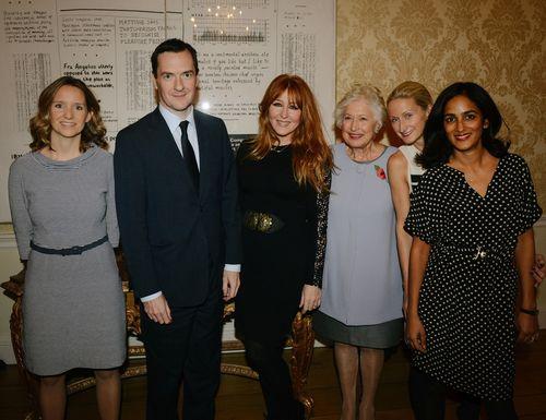 Sarah Brown - Pai Skincare, The Rt Hon George Osborne MP, Charlotte Tilbury, Caroline Neville - CEW President, Thea Green MBE - Nails Inc, Vanita Parti - Blink Brow Bar (PRNewsFoto/CEW)