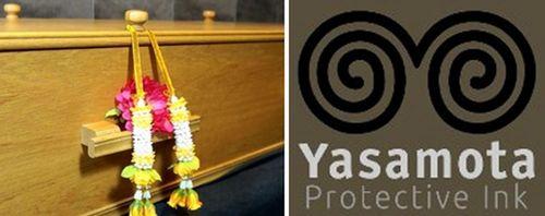 Deceased can be tattooed. Yasamota can tattoo a prayer or mantra on your body. (PRNewsFoto/Yasamota)