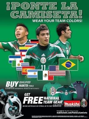 Makita® se contagia de la fiebre del fútbol con artículos promocionales de selecciones nacionales, boletos a Brasil y más