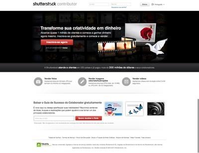 Uma previa do novo site contribuinte do Shutterstock em portugues (PRNewsFoto/Shutterstock Inc.)