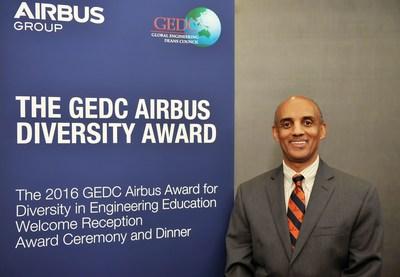 GEDC Airbus Diversity Award 2016 Recipient, Yacob Astatke, Interim Associate Dean of Engineering for Undergraduate Studies, Morgan State University, USA