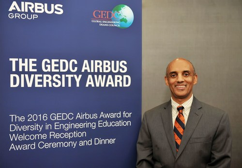 GEDC Airbus Diversity Award 2016 Recipient, Yacob Astatke, Interim Associate Dean of Engineering for Undergraduate Studies, Morgan State University, USA (PRNewsFoto/Airbus Group)