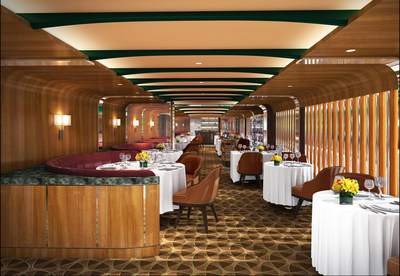 Rendering of New Signature Restaurant, The Grill by Thomas Keller, aboard Seabourn Quest