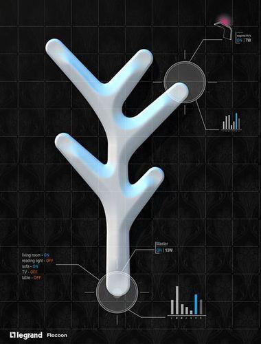 Legrand Flocoon Design Concept : gentle Gestures for controlling your home (PRNewsFoto/Legrand)