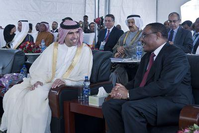 HH Sheikh Faisal bin Saqr Al Qasimi, Julphar Chairman and HE Hailemariam Desalegn, Prime Minister of Ethiopia. (PRNewsFoto/Julphar)