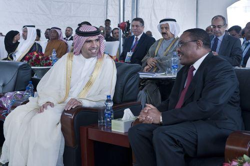 HH Sheikh Faisal bin Saqr Al Qasimi, Julphar Chairman and HE Hailemariam Desalegn, Prime Minister of Ethiopia. ...