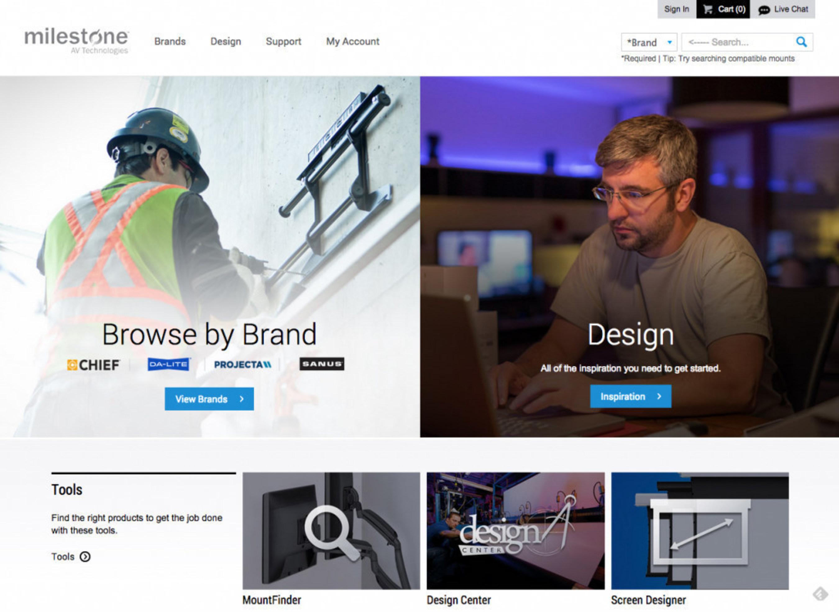 Milestone AV Technologies Launches New Website to Enhance the Customer Experience